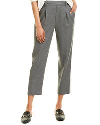 Vince Easy Tapered Pull-on Wool-blend Pant - Gray