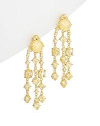 Judith Ripka - Gold Over Silver 0.61 Ct. Tw. White Topaz & Cz Drop Earrings - Lyst
