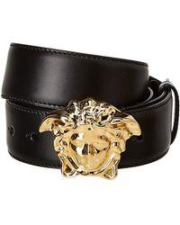 Versace - Palazzo Medusa Leather Belt - Lyst