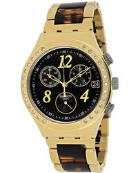 Swatch Dreamnight 14 Golden Chronograph Ladies Watch - Metallic