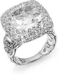 John Hardy - Batu Klasik Ring/white Topaz - Lyst