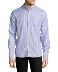 Save Khaki Collar Oxford Sportshirt - Blue