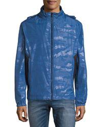Strellson Camouflage Waterproof Windbreaker - Blue