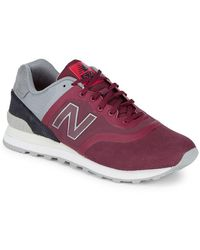 New Balance Mixed Media Suede Sneaker - Red