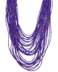 Cara Couture - Jewellery Beaded Station Necklace - Lyst