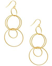 Gabi Rielle - 22k Gold Dipped Multi-hoop Drop Earrings - Lyst