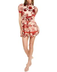 Alice + Olivia Regan Tiered Silk-blend Dress