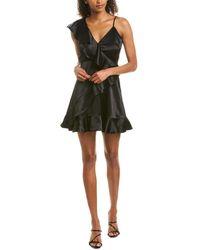 Jack BB Dakota Limelight Faux Wrap Dress - Black