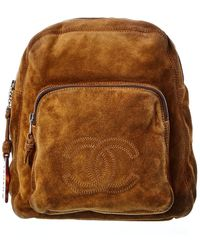 Chanel Brown Suede Backpack