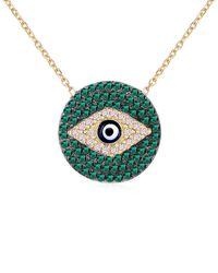 Gabi Rielle Gold Over Silver Cz Choker Necklace - Metallic