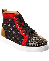 4199bf6fdb69 Christian Louboutin Louis Orlato Flat Python Sneakers in Green - Lyst