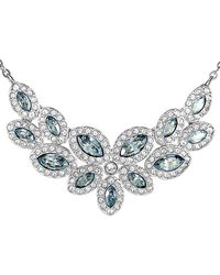 Swarovski Crystal Rhodium Plated Necklace - Multicolour