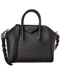 Givenchy Antigona Mini Leather Satchel - Black