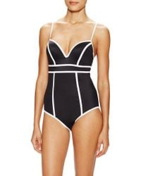 4e97e31bf99af ViX Anita Madalena One Piece Swimsuit in Black - Lyst
