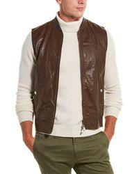Brunello Cucinelli Leather Vest - Brown