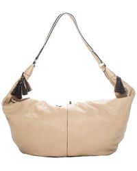 The Row Beige Leather Sling Hobo Bag - Natural