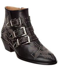 Chloé Susanna Shearling Boots - Black
