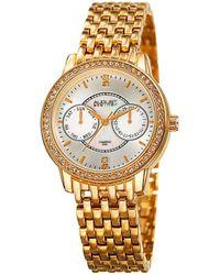 August Steiner Women's Diamond Accent Alloy Watch - Metallic