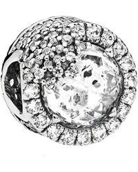PANDORA Silver Dazzling Snowflake Charm - Metallic