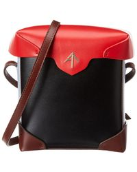 MANU Atelier Pristine Mini Leather Crossbody - Red