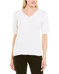 Lafayette 148 New York Cable-knit Sweater - White