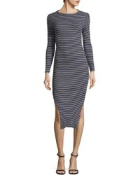 French Connection - Tim Tim Cotton Stripe Dress - Lyst