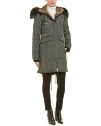 Nicole Benisti Brera Leather-trim Down Coat - Green