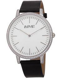 August Steiner Men's Leather Watch - Metallic