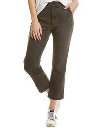 AMO Easy Washed Black Relaxed Crop Jean - Grey