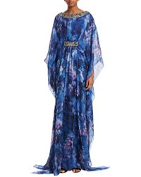 Badgley Mischka - Silk Caftan Gown - Lyst