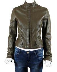 Louis Vuitton Goatskin Leather Jacket, Size Fr 38 - Multicolour