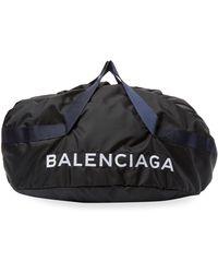 Balenciaga Contrast Dual-handled Duffel Bag - Black