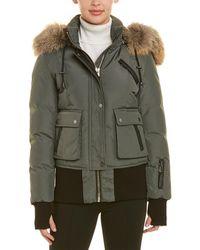 Nicole Benisti Fordham Leather-trim Jacket - Green