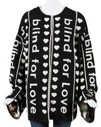 Gucci Wool & Cashmere-blend Bline For Love Oversized Coat - Black