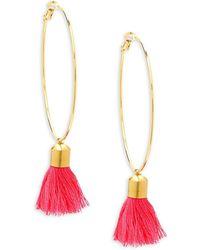 Panacea - Hoop Tassel Earrings - Lyst