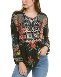 Johnny Was Petite Veda Silk Blouse - Black