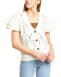 Line & Dot Luna V-neck Sweater - White