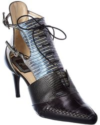 Dior Nomade Leather Bootie - Black