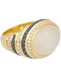 Effy - Fine Jewellery 18k 12.70 Ct. Tw. Diamond & Moonstone Ring - Lyst