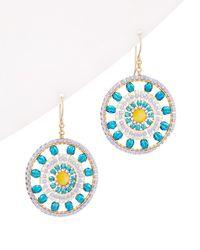 Miguel Ases 14k Filled Earrings - Blue