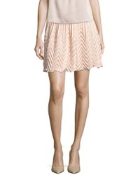 The Letter - Accordion Pleated Mini Skirt - Lyst