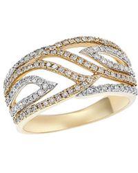 Diana M. Jewels . Fine Jewellery 14k 0.47 Ct. Tw. Diamond Ring - Metallic