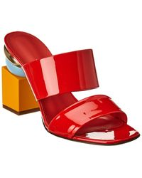 Ferragamo 90mm Sculptured Heel Mules - Black