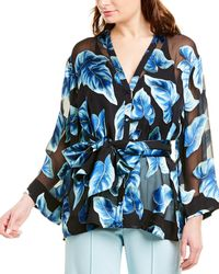 Alice + Olivia Rosario Silk-blend Kimono - Black