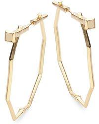 CC SKYE Nail Hoop Earrings/2?? - Metallic