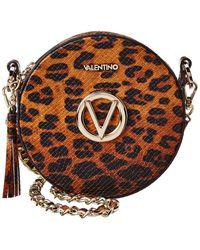 Valentino By Mario Valentino Yuki Embossed Leopard Print Leather Crossbody Bag - Brown