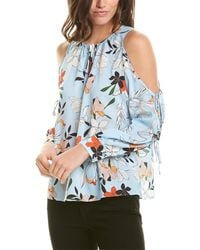 Parker Cold-shoulder Top - Blue