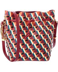 Sophie Hulme - Small Watermelon Crystal Embellished Leather Bucket Bag - Lyst