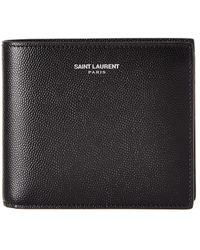 Saint Laurent - Classic East/west Leather Bifold Wallet - Lyst