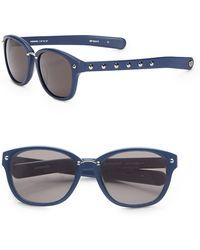 Rebecca Minkoff Hudson 57mm Wayfarer Sunglasses - Blue